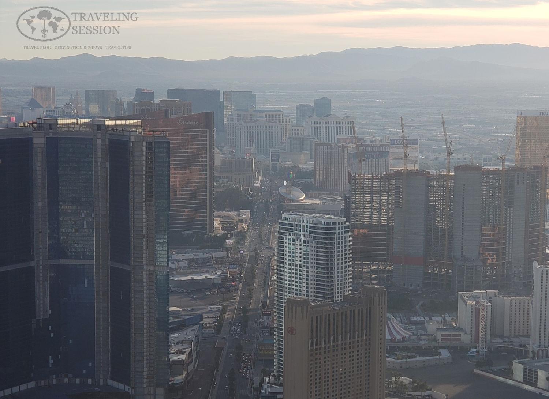 Above the Las Vegas Strip