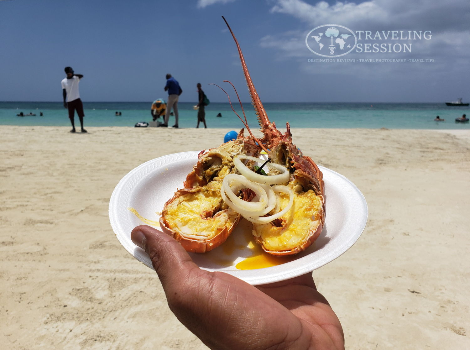 Lobster on the Beach in Negril