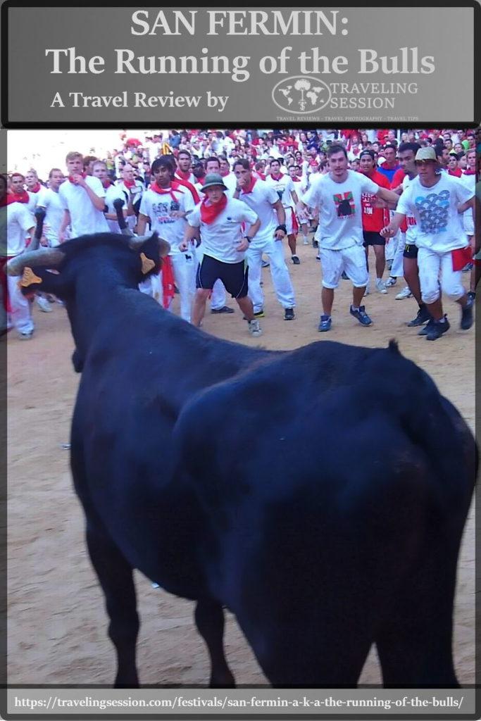 Running of the Bulls Pinterest Pin