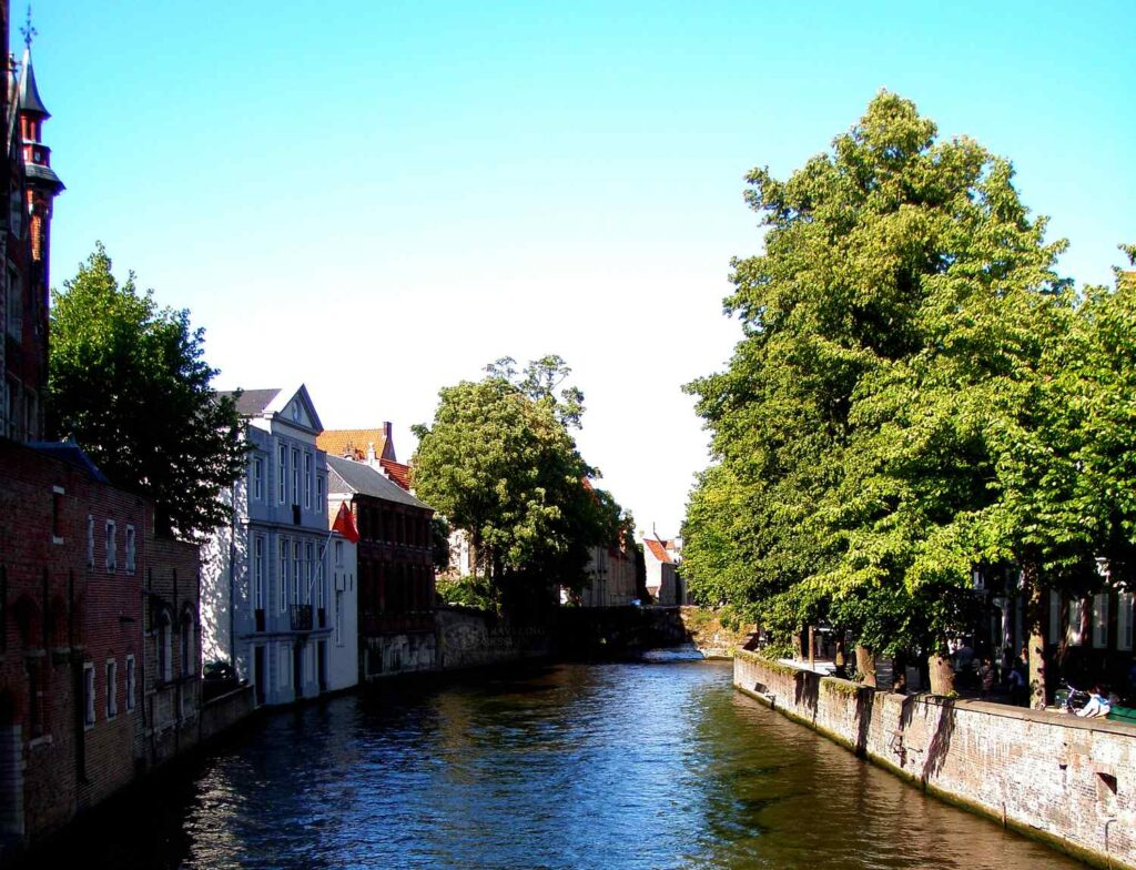 Overlooking the Canals in Bruges
