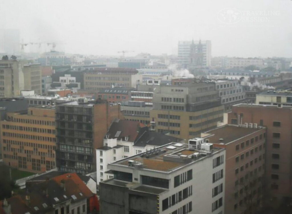 Foggy Day Over Brussels, Belgium