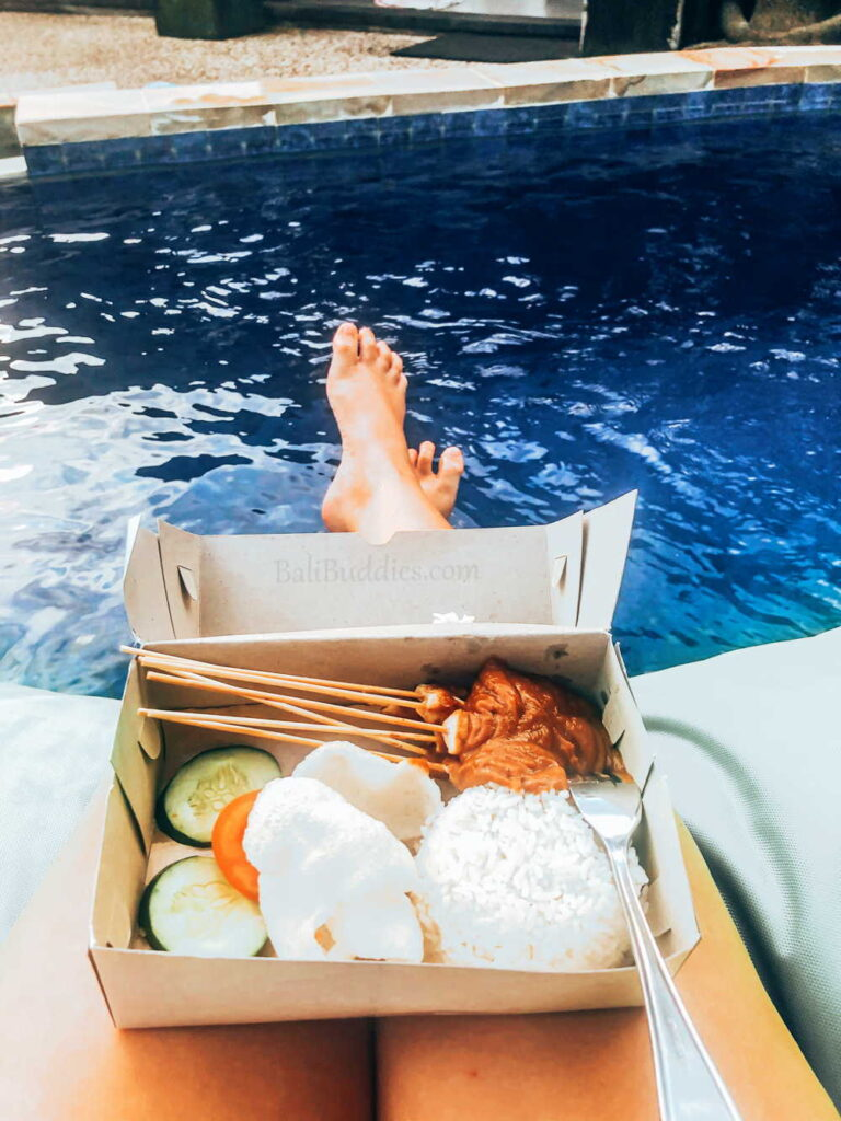 Poolside snack in Bali photo by BaliBuddies.com