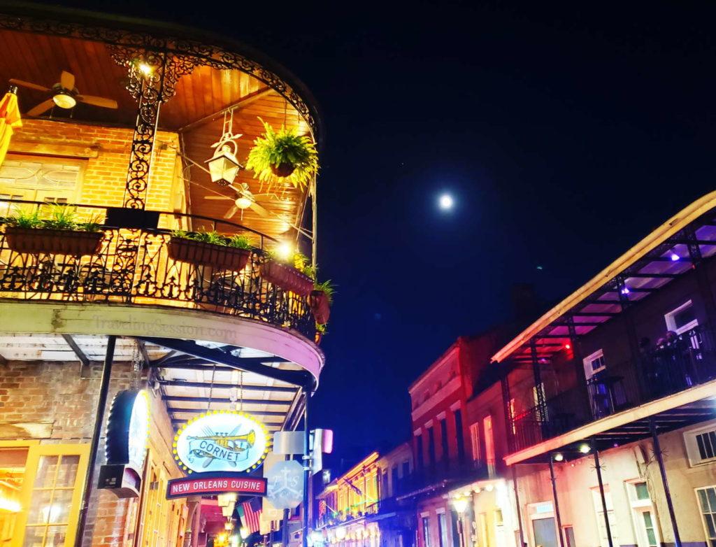 Full Moon Over Bourbon Street