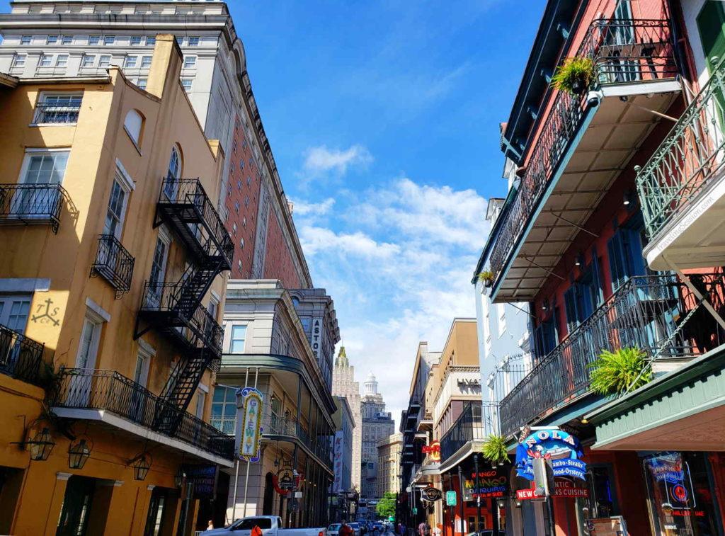 Daytime on Bourbon Street
